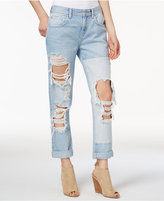 GUESS Cotton Ripped Boyfriend Jeans