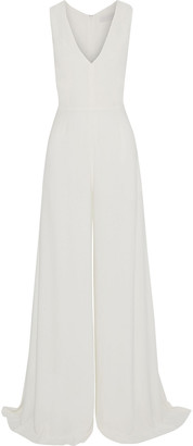 Les Héroïnes The Nina Crepe Wide-leg Jumpsuit