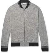 Club Monaco Mélange Jersey Zip-up Sweatshirt - Gray