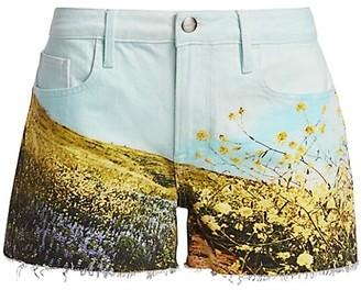 Frame Le Grand Garson Field Print Shorts