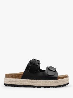 Hush Woodstock Double Strap Slider Sandals