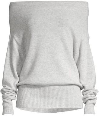 Brochu Walker Lori Off-The-Shoulder Cashmere Sweater