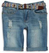 Imperial Star Girls 7-16 Girls Distressed Bermuda Shorts