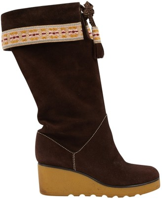 Marc Jacobs Brown Suede Boots