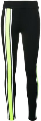 NO KA 'OI Front And Side Stripe Sports Leggings