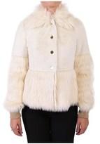 Patrizia Pepe Women's White Polyester Outerwear Jacket.
