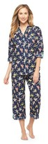 Nick & Nora Women's Pajama Set Navy Sock Monkey