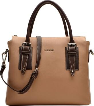 Louvier Unisex-Adult's Monnaie Leather Sade Satchel Bag Large