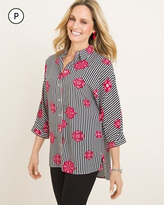 Chico's Chicos Petite Medallion Striped Tunic