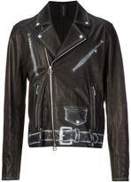 Miharayasuhiro printed biker jacket