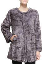 Belle Fare Layered Mink Fur Coat