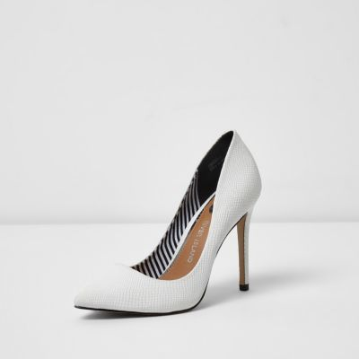 River Island Womens White court shoes
