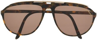 Courrèges Pre Owned Tortoise Shell Aviator Sunglasses