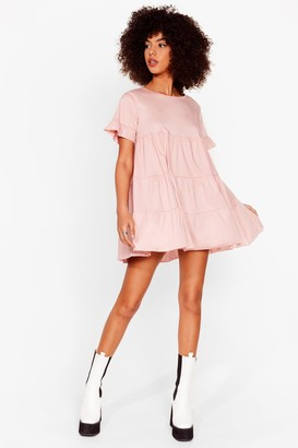 Nasty Gal Womens Leave 'Em in Tiers Ruffle Mini Dress - Pink - 4, Pink