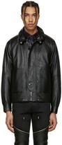 Saint Laurent Black Leather Slouchy Jacket