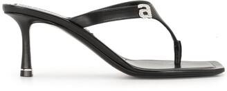 Alexander Wang Ivy logo sandals