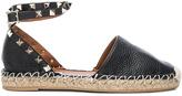 Valentino Rockstud Double Flat Leather Espadrilles
