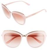 Dolce & Gabbana Women's 57Mm Gradient Cat Eye Sunglasses - Havana