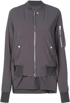 Rick Owens high low hem bomber jacket
