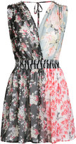 Amen patched floral sleeveless dress - women - Silk - 38