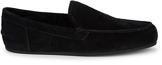 Vince Gino Shearling Suede Loafers