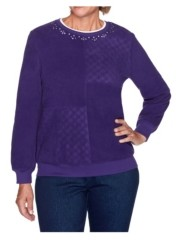 Alfred Dunner Women's Solid Anti-Pill Top