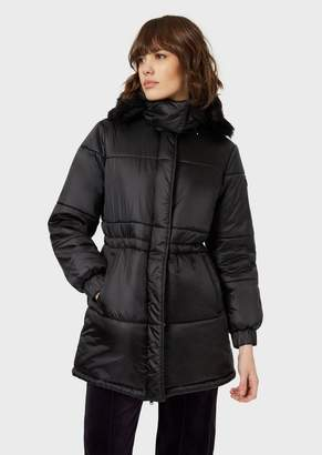 Emporio Armani Quilted Jacket With Removable Hood