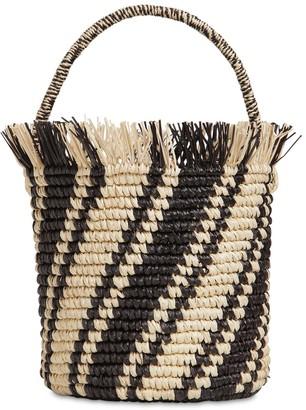 Sensi Side Stripes Baby Straw Bucket Bag