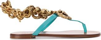 Dolce & Gabbana Devotion calf leather sandals