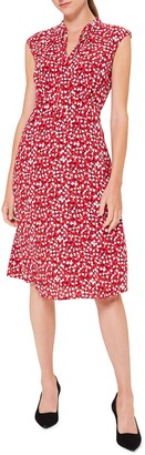 Hobbs Isabelle Geo Print Sleeveless A-Line Dress
