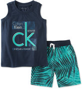 Calvin Klein 2-Pc. Tank Top & Shorts Set, Toddler & Little Boys (2T-7)