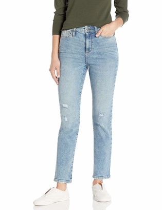 Daily Ritual High-rise Slim Straight Jean - Base B Vintage Destructed XL