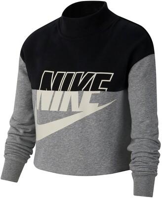 Nike Cotton Mix Cropped Sweatshirt, 6-16 Years