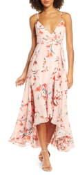Fame & Partners The Rosalia High/Low Wrap Dress
