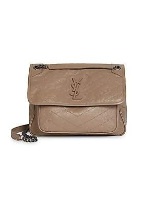 Saint Laurent Women's Medium Niki Leather Shoulder Bag