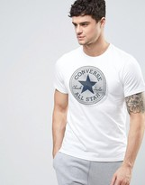 Converse T-shirt With Large Logo In White 10003386-a02