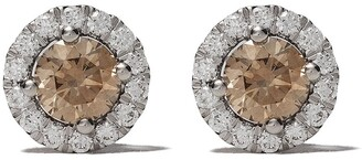 De Beers 18kt white gold Aura fancy coloured diamond stud earrings