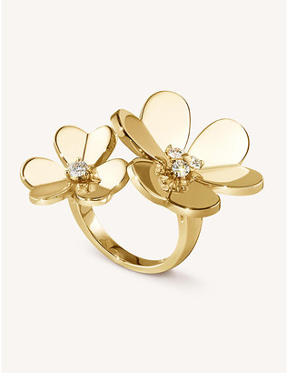 Van Cleef & Arpels Women's Frivole Yellow-Gold And Diamond Between The Finger Ring, Size: 48mm