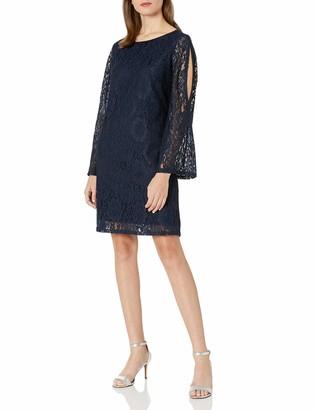 MSK Women's Lace Cold Shoulder Knit Dress