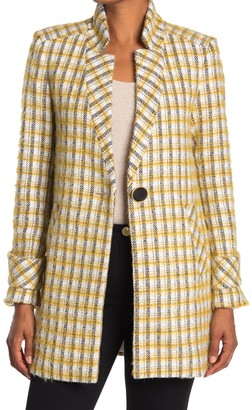 Veronica Beard Jin Plaid Notch Lapel Dickey Coat