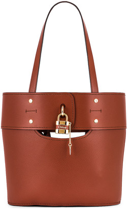 Chloé Small Aby Tote in Sepia Brown   FWRD