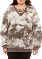 Hybrid Tees Long Sleeve Sweatshirt-Juniors Plus