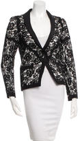 Chanel Lace Scallop-Trimmed Jacket