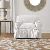 Sure Fit Matelasse Damask Box Cushion Armchair Slipcover
