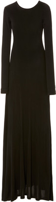 Michael Lo Sordo Open-Back Jersey Maxi Dress