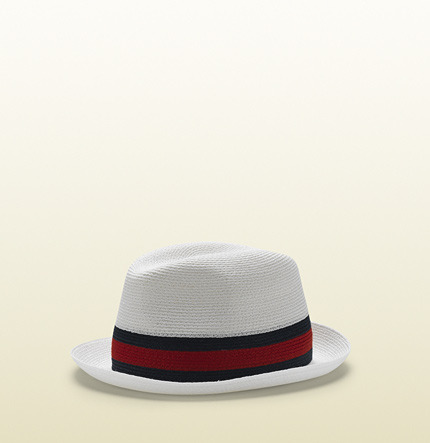 Gucci Trilby Hat With Signature Web