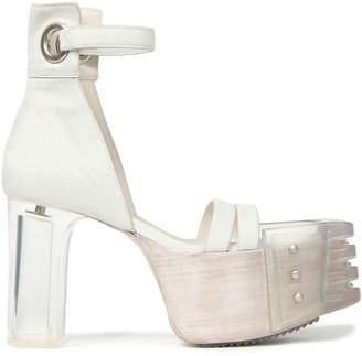 Rick Owens Calf Hair Platform Sandals