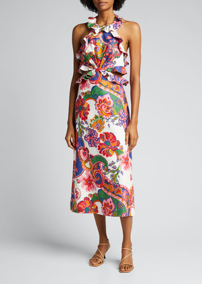 Zimmermann The Lovestruck Tie-Back Midi Dress