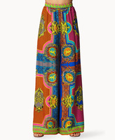 Forever 21 Multicolored Scarf Print Pants