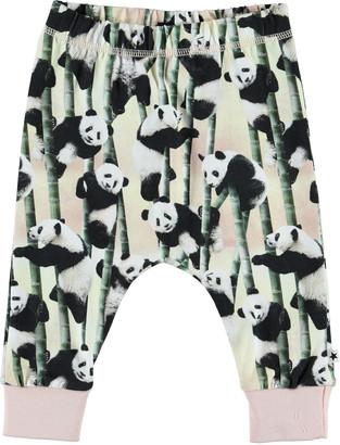 Molo Girl's Simone Panda-Print Soft Pants, Size 3-24 Months